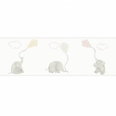 Casadeco My Little World Fabrics & Wallpapers Elephant Wallpaper Border - Rose - 29764220
