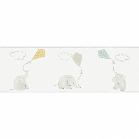 Casadeco My Little World Fabrics & Wallpapers Elephant Wallpaper Border - Blue - 29766311