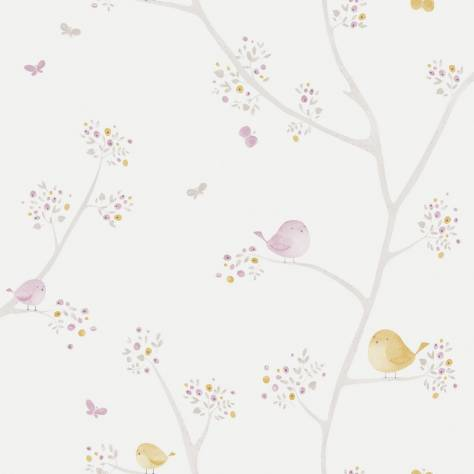Casadeco My Little World Fabrics & Wallpapers Allover Birds Wallpaper - Parma/Yellow - 29835236