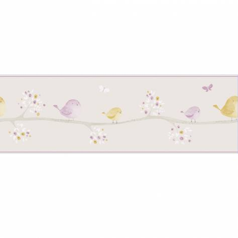 Casadeco My Little World Fabrics & Wallpapers Oiseaux Wallpaper Border - Parma/Yellow - 29855212