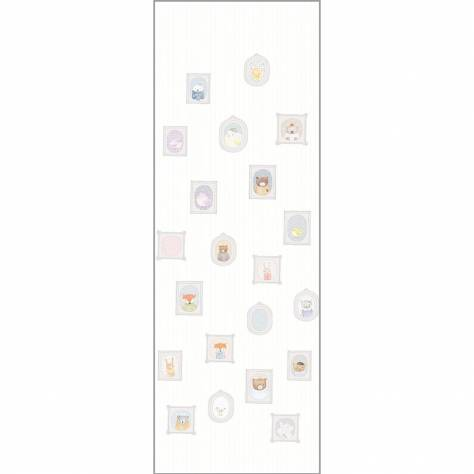 Casadeco My Little World Fabrics & Wallpapers Portraits Wallpanel - White - 29890101