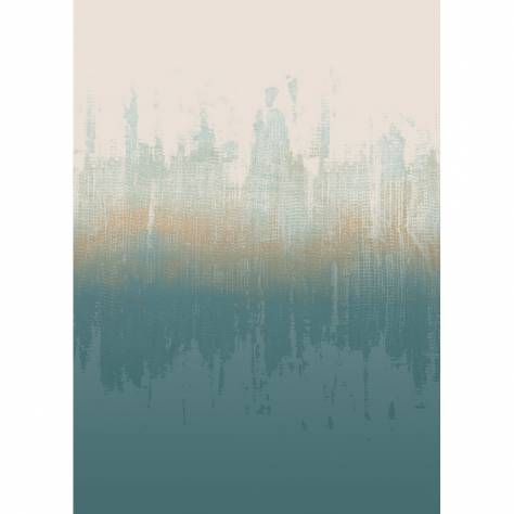 Casadeco Intuition Wallpapers Land Wallpanel - Aqua - 80436533