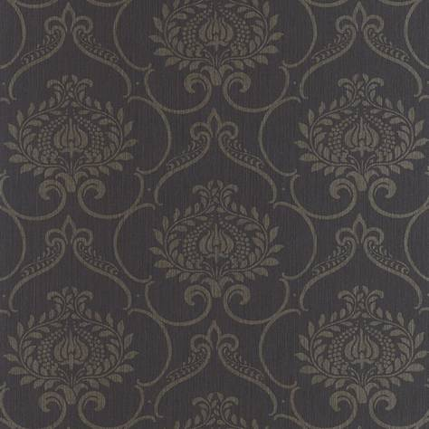 Casadeco Haussmann Wallpapers Haussmann Parure Wallpaper - Noir - 82129559