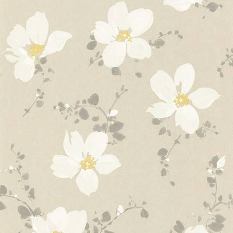Casadeco Florescence Fabrics and Wallpapers Sabatini Wallpaper - Taupe/Rose - 82321202