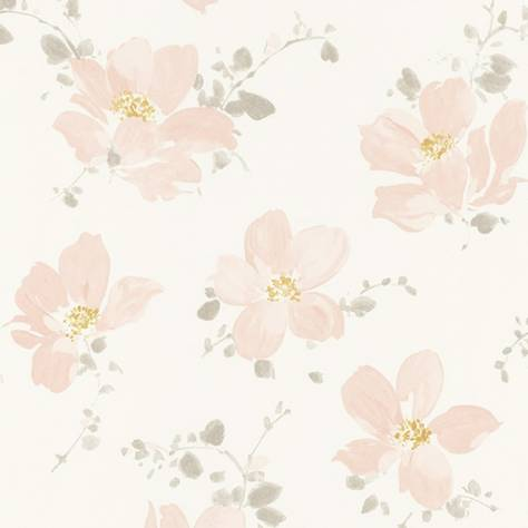 Casadeco Florescence Fabrics and Wallpapers Sabatini Wallpaper - Rose - 82324127