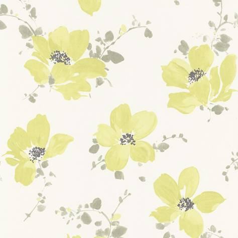 Casadeco Florescence Fabrics and Wallpapers Sabatini Wallpaper - Vert - 82327210
