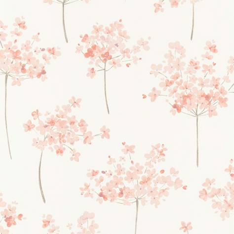 Casadeco Florescence Fabrics and Wallpapers Boboli Wallpaper - Corail - 82333135