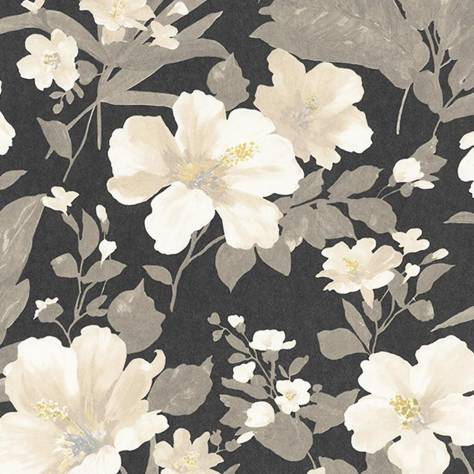 Casadeco Florescence Fabrics and Wallpapers Luxembourg Wallpaper - Gris - 82349508