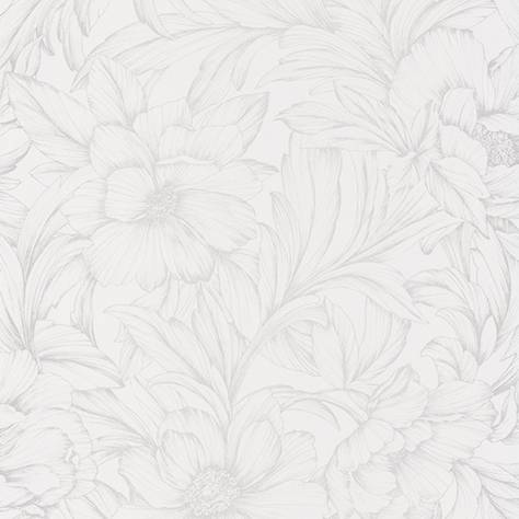 Casadeco Florescence Fabrics and Wallpapers Monceau Wallpaper - Blanc - 82350101