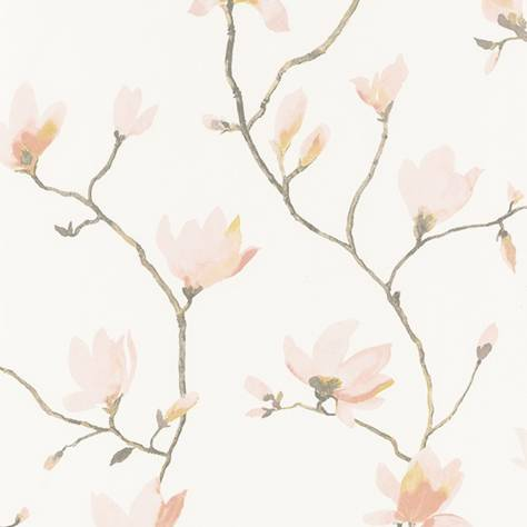 Casadeco Florescence Fabrics and Wallpapers Suzhou Wallpaper - Rose - 82364212