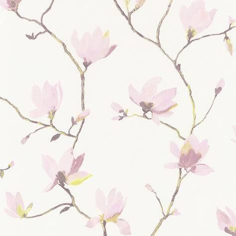 Casadeco Florescence Fabrics and Wallpapers Suzhou Wallpaper - Parme - 82365329