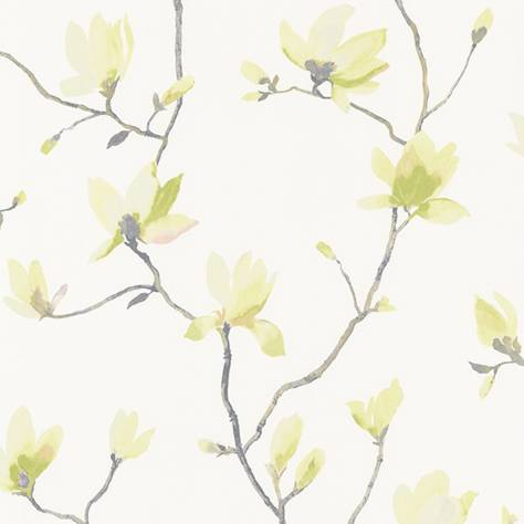Casadeco Florescence Fabrics and Wallpapers Suzhou Wallpaper - Vert - 82367207