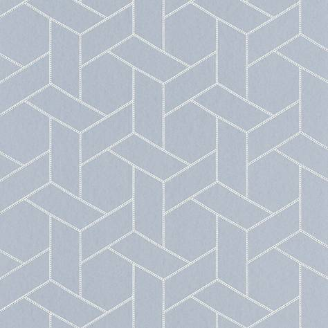 Casadeco Helsinki Wallpapers Focale Wallpaper - Bleu - HELS82036132