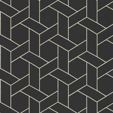 Casadeco Helsinki Wallpapers Focale Wallpaper - Noir - HELS82039528