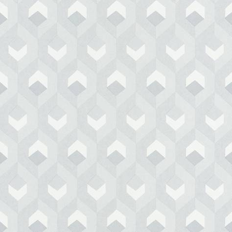 Casadeco Helsinki Wallpapers Hexacube Wallpaper - Blanc - HELS82050102