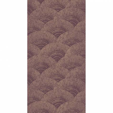 Casadeco Oxford Fabrics and Wallpapers Walter Foil Wallpaper - Bordeaux / Rose Gold - OXFD84094525
