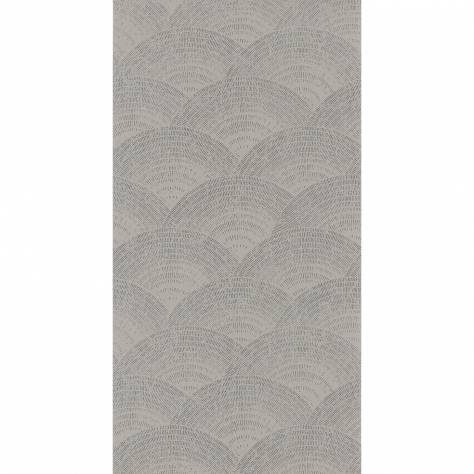 Casadeco Oxford Fabrics and Wallpapers Walter Foil Wallpaper - Taupe / Argent - OXFD84099136