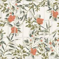 Camelia Wallpaper - Corail