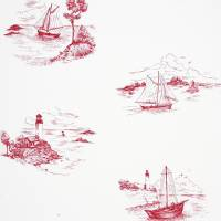 Toile De Jouy Wallpaper - Red