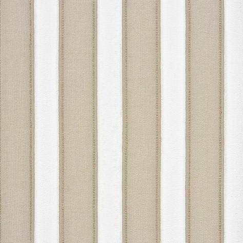 Casadeco Marina Fabrics & Wallpapers Rayure Couture Wallpaper - Beige - 25111108