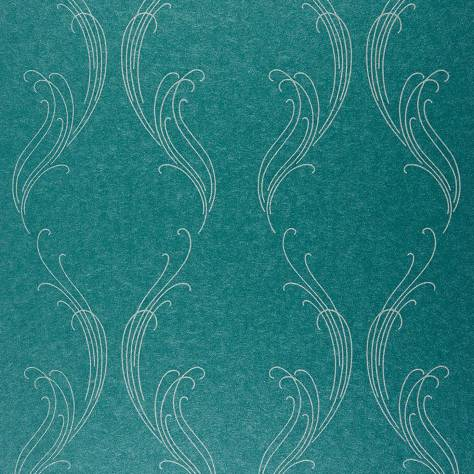 Casadeco Exception Wallpaper Ornement Wallpaper - Turquoise - 25256217