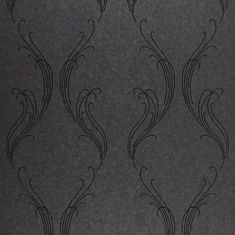 Casadeco Exception Wallpaper Ornement Wallpaper - Black - 25259530