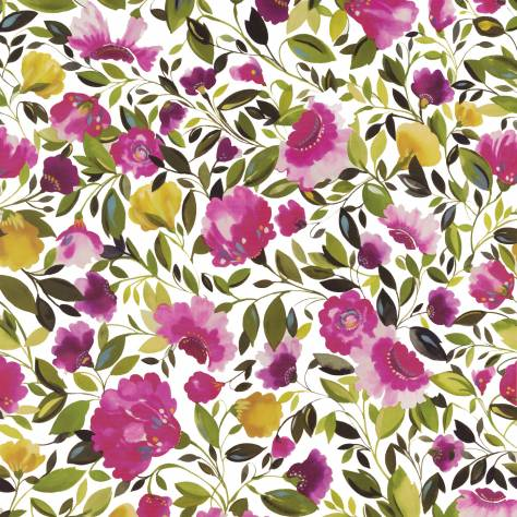 Clarke & Clarke Art Book by Kim Parker Rosina Wallpaper - Fuchsia - W0074/01