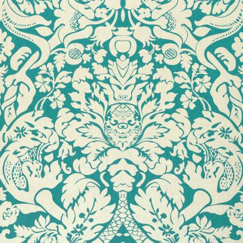 Clarke & Clarke Colony wallpapers Valentina Wallpaper - Teal - W0088/08