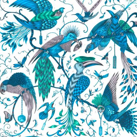 Clarke & Clarke Emma J Shipley for Clarke and Clarke Animalia Wallpapers Emma J Shipley Audobon Wallpaper - Jungle - W0099/03