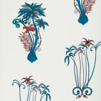 Emma J Shipley Jungle Palms Wallpaper - Blue