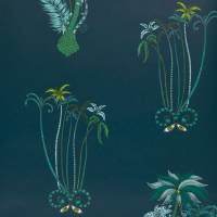 Emma J Shipley Jungle Palms Wallpaper - Navy