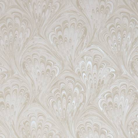 Clarke & Clarke Botanica Wallpapers Pavone Wallpaper - Ivory / Pearl - W0095/04
