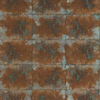 Oxidise Wallpaper - Copper/Slate