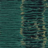 Ripple Stripe Wallpaper - Emerald / Kingfisher