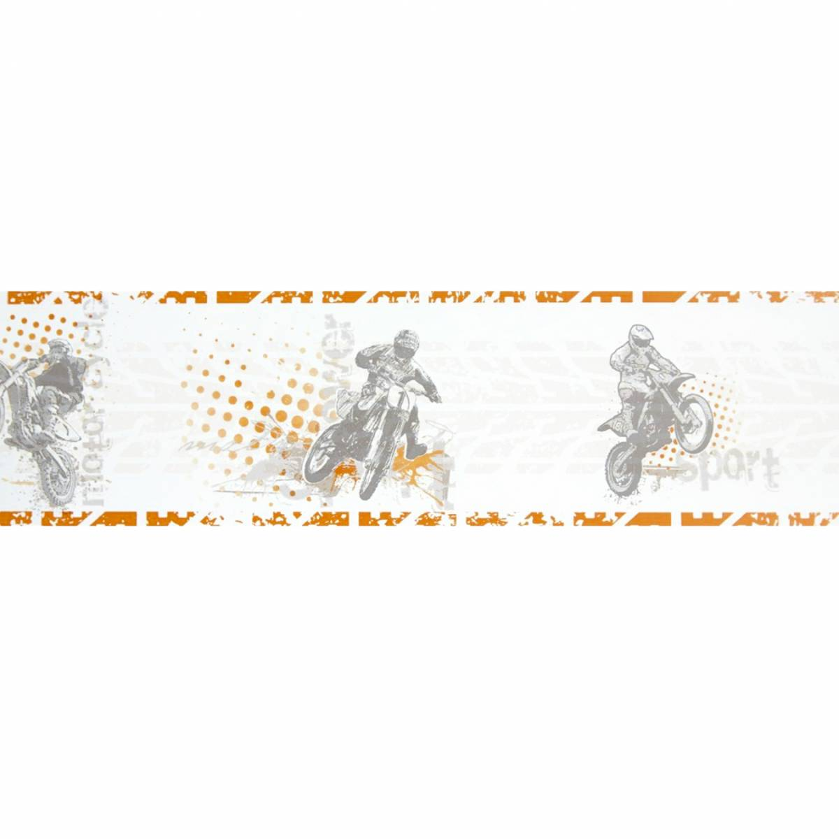 motocross wallpaper border orange 64823068 caselio