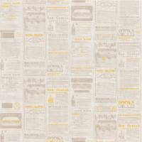 Newspaper Wallpaper - Yellow
