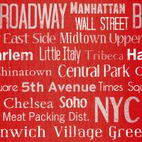 Manhattan Wallpaper - Red