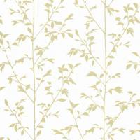 Vegetal Wallpaper - White/Gold