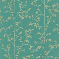 Vegetal Wallpaper - Turquoise