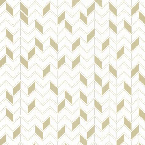 Caselio  Shine Wallpapers Geometrique Wallpaper - White/Gold - 68580025