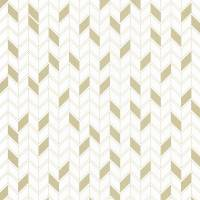 Geometrique Wallpaper - White/Gold