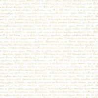 Wording Wallpaper - White/Gold