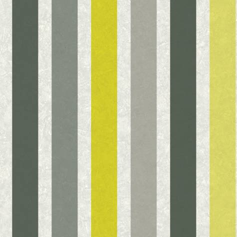 Caselio  Street Art Fabric & Wallpapers Rayure Wallpaper - Lime/Black - 68172002
