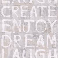 Wording Graf Wallpaper - Grey