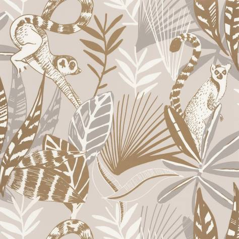 Caselio  L'Odyssee Wallpapers Madagascar Wallpaper - Beige / Dore - OYS101401010
