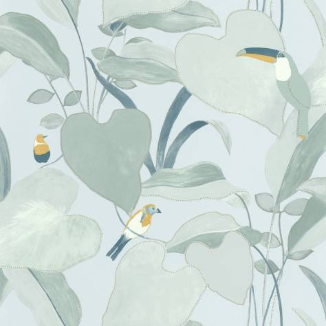 Caselio  L'Odyssee Wallpapers Amazonia Wallpaper - Vert D'eau / Jaune / Dore - OYS101427121