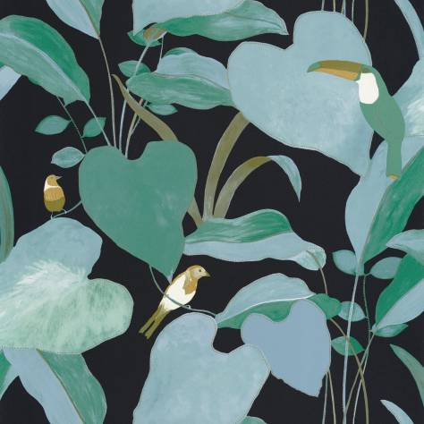 Caselio  L'Odyssee Wallpapers Amazonia Wallpaper - Noir / Vert Emeraude / Dore - OYS101427922