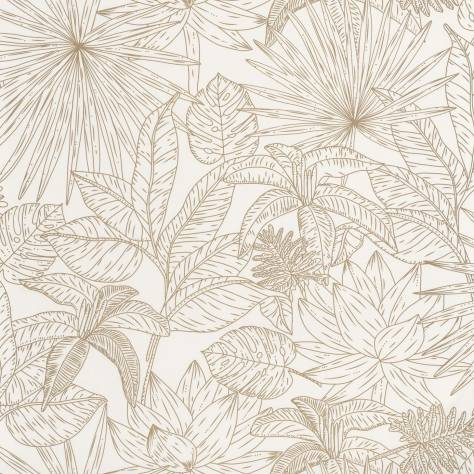 Caselio  L'Odyssee Wallpapers Hawai Wallpaper - Blanc / Dore - OYS101430020