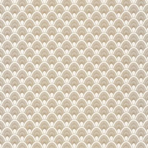 Caselio  L'Odyssee Wallpapers Mayotte Wallpaper - Blanc / Dore - OYS101450110