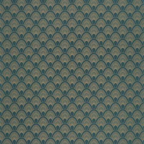 Caselio  L'Odyssee Wallpapers Mayotte Wallpaper - Bleu Nuit / Dore - OYS101456903